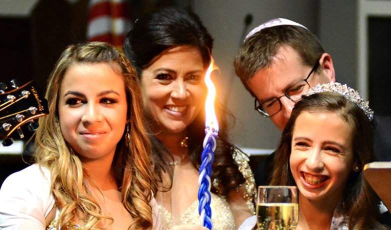 WJC Mitzvahs lighting candle
